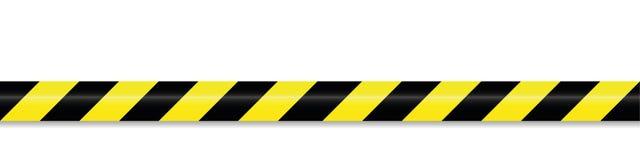 Preto amarelo da fita de advert?ncia ilustração do vetor