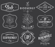 Preto bio e de Eco da energia 2 Fotos de Stock Royalty Free