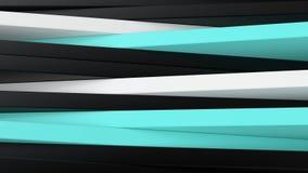 Preto, branco abstratos e azul almofadam o fundo 3D Imagem de Stock
