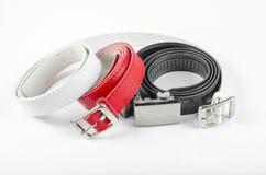 Preto branco vermelho da correia Imagem de Stock Royalty Free