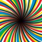 Preto center do Twirl Imagens de Stock
