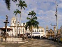 Preto d'Ouro, Br?sil 10 novembre 2016 Rue dans le c?l?bre de la ville historique image stock