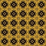 preto do arabesque e teste padrão sem emenda do ouro Fotografia de Stock