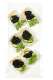Preto do caviar Fotos de Stock