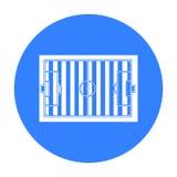 Preto do ícone do estádio Único ícone da aptidão grande, saudável, preto do esporte do exercício Imagem de Stock