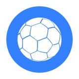 Preto do ícone do futebol Único ícone da aptidão grande, saudável, preto do esporte do exercício Imagens de Stock Royalty Free