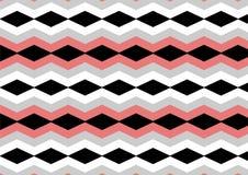 Preto do diamante de Chevron, cinza, testes padrões sem emenda cor-de-rosa e brancos velhos Fotografia de Stock