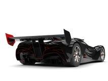 Preto do Gunmetal que compete o carro super com detalhes vermelhos - ate a vista ilustração royalty free
