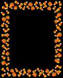 Preto do quadro de milho de doces de Halloween Imagem de Stock
