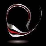 Preto do redemoinho do logotipo ilustração royalty free