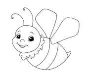 Preto e branco - abelha ilustração do vetor