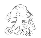 Preto e branco - cogumelos ilustração do vetor