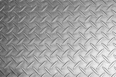 Preto e branco da textura do metal Fotos de Stock