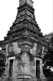 Preto e branco do templo de Prambanan Fotos de Stock