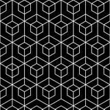 Preto e branco gráfico geométrico abstrato Teste padrão do hexágono Imagem de Stock