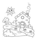 Preto e branco - HOME doce ilustração stock