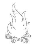 Preto e branco - incêndio ilustração stock