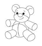 Preto e branco - urso ilustração stock
