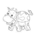 Preto e branco - vaca ilustração stock