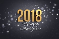 Preto e cartão 2018 do ouro Imagem de Stock Royalty Free