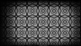 Preto e imagem do teste padrão do papel de parede de Gray Vintage Decorative Floral Ornament ilustração do vetor