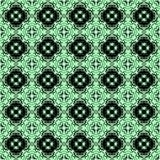 Preto e verde sem emenda do teste padrão do arabesque Fotografia de Stock