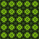 Preto e verde sem emenda do teste padrão do arabesque Imagens de Stock Royalty Free