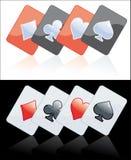 Preto e vermelho do cartão do póquer Imagem de Stock