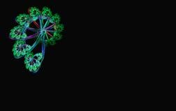 Preto espiral azul verde do fractal Imagem de Stock Royalty Free