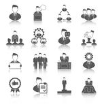 Preto executivo dos ícones Imagens de Stock