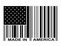 Preto feito no código de barras de América ilustração do vetor