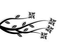 Preto floral Foto de Stock