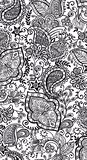 Preto floral do teste padrão do fundo das texturas do vetor ilustração stock