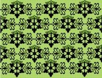 Preto floral e verde do fundo Imagens de Stock Royalty Free