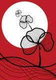 Preto oriental da planta no vermelho ilustração do vetor