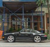 Preto Porsche 1993-1998 993 Foto de Stock