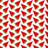 Preto verde vermelho das partes sem emenda do melão do teste padrão ilustração stock