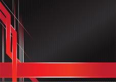 Preto vermelho do quadro metálico afiado abstrato Fotografia de Stock Royalty Free