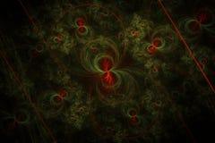 Preto vermelho verde do círculo do Fractal ilustração stock