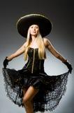 Preto vestindo da mulher Imagens de Stock Royalty Free