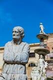 Pretoriańska fontanna w Palermo, Włochy obraz stock