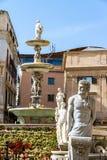 Pretoriańska fontanna w Palermo, Włochy zdjęcia royalty free