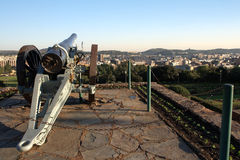 Pretoria. Old boer war cannon overlooking the city of Pretoria. capital of South Africa Stock Photography