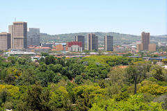 Pretoria central business area. Part of the Pretoria central business area as seen from the zoo Royalty Free Stock Photo