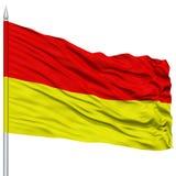 Pretoria City Flag on Flagpole Royalty Free Stock Image