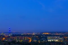 Pretoria city lights at twilight Royalty Free Stock Images