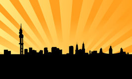 Pretoria city skyline vector Stock Image