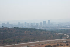 Pretoria city. View from Voortrekker monument roof towards Pretoria city Stock Images