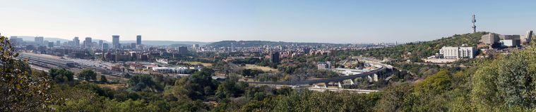Pretoria Cityscape, Sydafrika Arkivbild