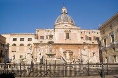 Pretoria Fountain, Palermo Royalty Free Stock Images
